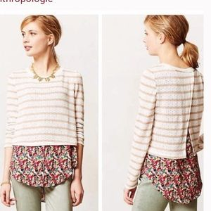 ANTHRO Postmark Layered Ginny Knit Top
